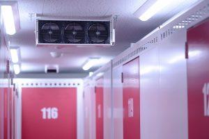 各トランクルームの各階に設置されたサーキュレーター